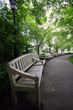 Wood bench. Wooden bench in battery park, new york Royalty Free Stock Images
