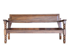 Wood bench furniture isolated Royalty Free Stock Photos