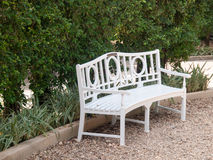 Wood bench in garden Stock Photography