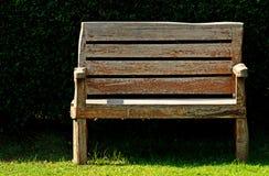 Wood Bench In Garden Stock Images