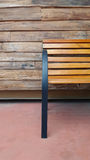 Wood bench at old wood wall Royalty Free Stock Photography