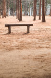 Wood bench at outdoor Stock Photo