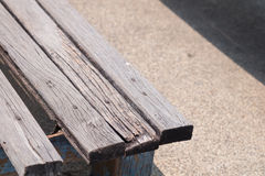 Wood bench. In the park Stock Images
