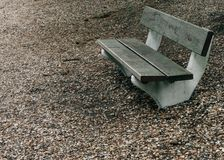 Wood bench in park. At Paris, France stock image