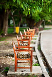 Wood bench under tree Royalty Free Stock Photography