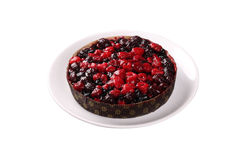 Wood berries pie Royalty Free Stock Images