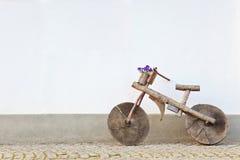 Wood bicycle Stock Photo