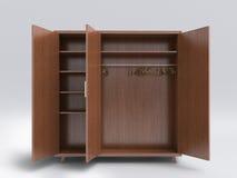 Wood big open cupboard; Stock Photo
