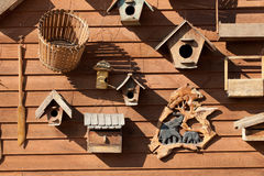 Wood bird feeder Royalty Free Stock Photos