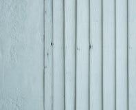 wood blå målad panel Arkivfoton