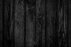 Wood black panels background. Door made of black wood panels texture - background in old style Royalty Free Stock Photography