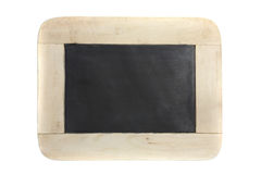 Wood blackboard isolated in white background Royalty Free Stock Photo