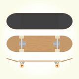 Wood blank skateboard vector Stock Images
