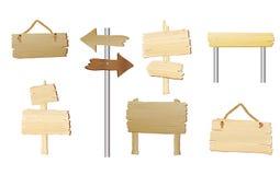 wood blanka tecken royaltyfri illustrationer