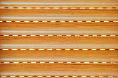 Wood blind. Integrated blind imitation wood brown aluminum Royalty Free Stock Photography