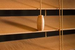 Wood Blinds. Home interior detail of wooden blinds royalty free stock photo