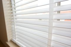 Wood blinds Stock Photography