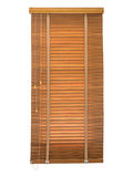 Wood blinds closed. Royalty Free Stock Photos