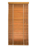 Wood blinds closed. Stock Photo
