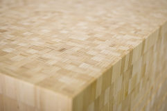 Wood block. A big block of bamboo plywood Royalty Free Stock Images