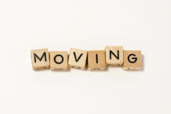 Wood block moving Royalty Free Stock Images