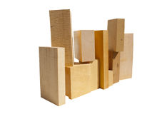 Wood Block Pile Stock Photo