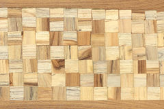 Wood block square texture Royalty Free Stock Image