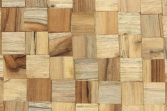 Wood block square texture Royalty Free Stock Images