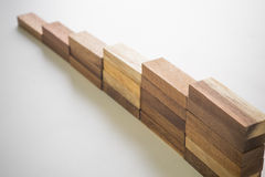 Wood block stacking as step stair. Stock Photography