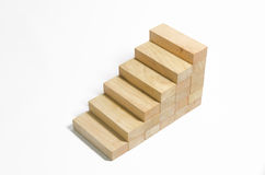 Wood block stair Stock Photography