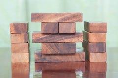 Wood block tower game for children. Wood block tower game for child Royalty Free Stock Photo