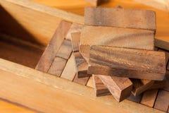 Wood block tower game for children. Wood block tower game for child Royalty Free Stock Image
