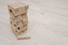 Wood block tower game for children Stock Photography