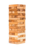 Wood block tower Royalty Free Stock Photos