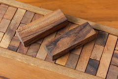Wood block tower game for children. Wooden block tower game for children Stock Image