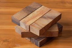 Wood block tower game for children. Wooden block tower game for children Stock Photography