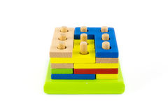 Wood block toy Royalty Free Stock Images