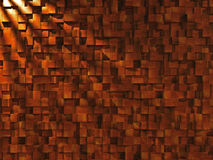 Wood Block Wall Stock Image