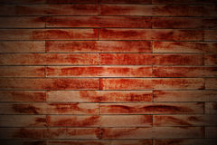 Wood Block Wall In Lomo. A wood block wall is a kind of construction. And the photo is a lomo style Stock Images