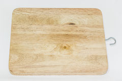 Wood block on White Backgound. New wood block in the kitchen isolated Royalty Free Stock Photography