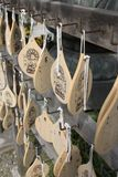 Wood Block Wishes in Asakusa Shrine Stock Image