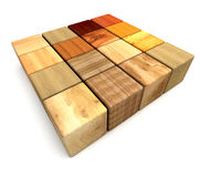 Wood blocks Stock Image