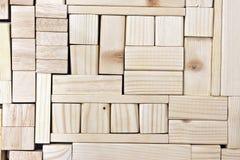 Wood blocks background. Background image of symmetrically arranged wooden blocks Royalty Free Stock Photography
