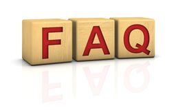Wood blocks FAQ Stock Images
