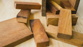 Wood blocks game. Royalty Free Stock Images