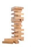 Wood blocks game on white background Stock Photography
