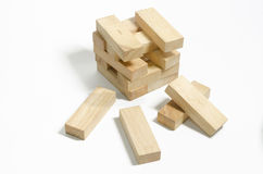 Wood blocks pile - Jenga Royalty Free Stock Image