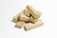Wood blocks pile Stock Photography