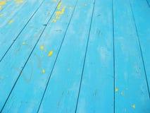 Wood blue texture Stock Photos