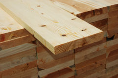Wood board. A pile of wood boards stock photo